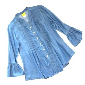 Ruby Rd. Tops - Denim Tunic Top